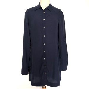 FREE PEOPLE This Town Button Down Tunic Dress Top